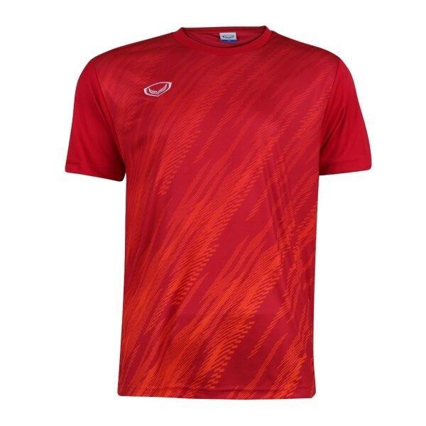 เสื้อกีฬาฟุตบอลพิมพ์ลาย แกรนด์สปอร์ต รหัส : 011559 (สีแดง)