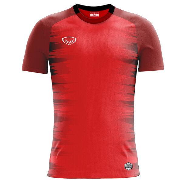 เสื้อกีฬาฟุตบอลพิมพ์ลาย แกรนด์สปอร์ต รหัสสินค้า:011544 (สีแดง)