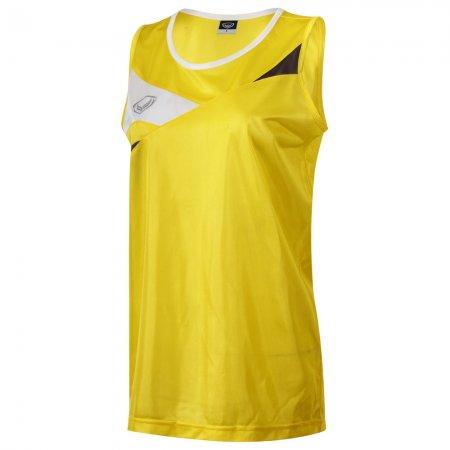 เสื้อวิ่งชายตัดต่อด้านหน้า(สีเหลือง) รหัส :017109