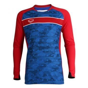 เสื้อกีฬา ประตูฟุตบอล แขนยาว แกรนด์สปอร์ต รหัสสินค้า : 018092 (สีน้ำเงิน)