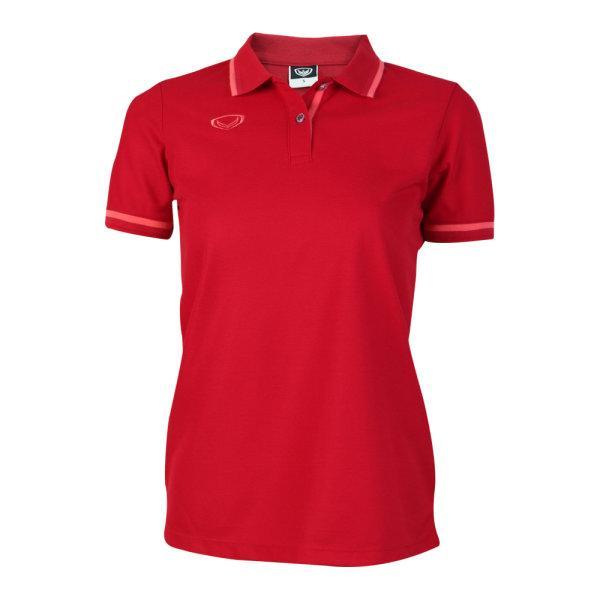 เสื้อโปโลหญิงแกรนด์สปอร์ต รหัสสินค้า : 012780 (สีแดง)