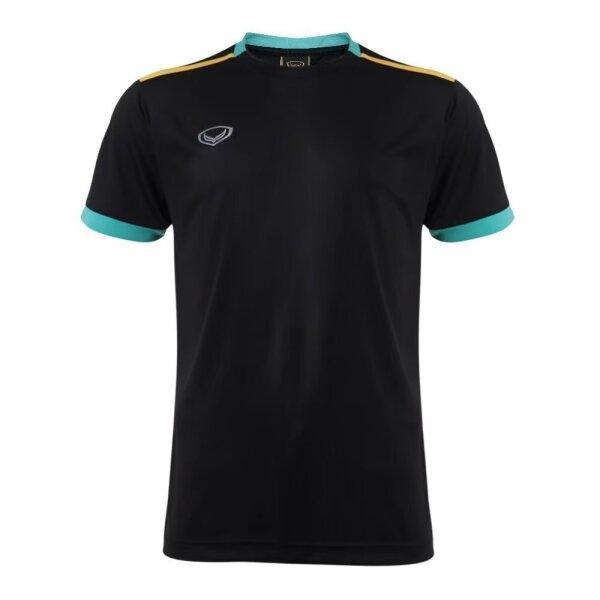 เสื้อกีฬาฟุตบอลตัดต่อ แกรนด์สปอร์ต  รหัสสินค้า : 011541 (สีดำ)