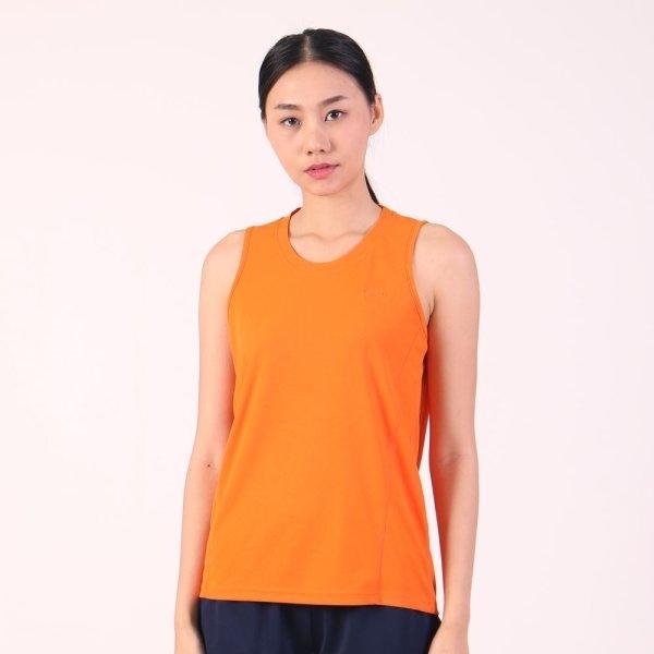 แกรนด์สปอร์ต เสื้อออกกำลังกายผู้หญิงแขนกุด (สีส้ม) รหัสสินค้า : 028789