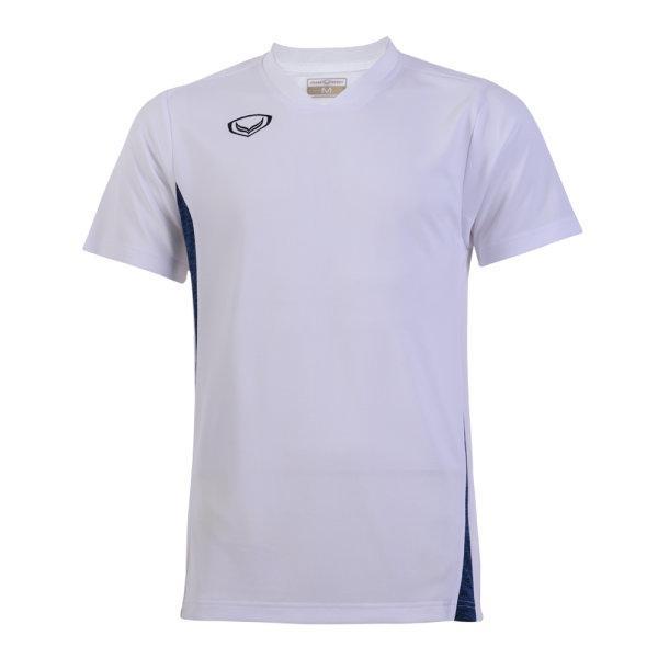 เสื้อกีฬาตัดต่อชายแกรนด์สปอร์ต (สีขาว)รหัส:014269