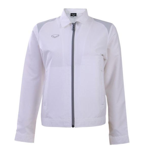 แกรนด์สปอร์ตเสื้อแจ็คเก็ต(หญิง) รหัสสินค้า : 020657 (สีขาว)