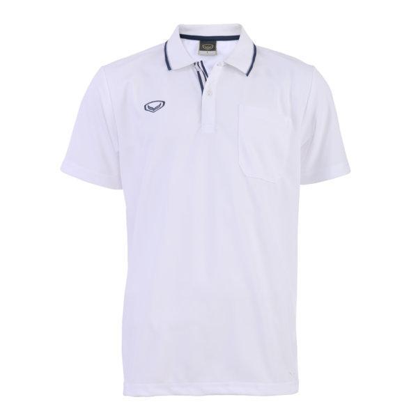 เสื้อโปโลชายแกรนด์สปอร์ต รหัส :012569 (สีขาว)
