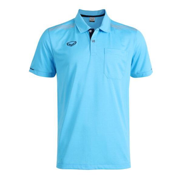 เสื้อโปโลชายแกรนด์สปอร์ต รหัส : 012581 (สีฟ้า)