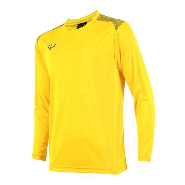 เสื้อกีฬาฟุตบอลแขนยาว แกรนด์สปอร์ต รหัส : 011475 (สีเหลือง)
