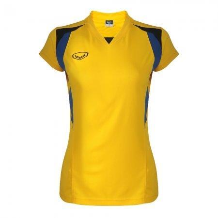 เสื้อกีฬาหญิงตัดต่อ แกรนด์สปอร์ต (สีเหลือง) รหัส : 014243