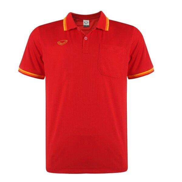 เสื้อโปโลชายแกรนด์สปอร์ต รหัส :012588 (สีแดง)