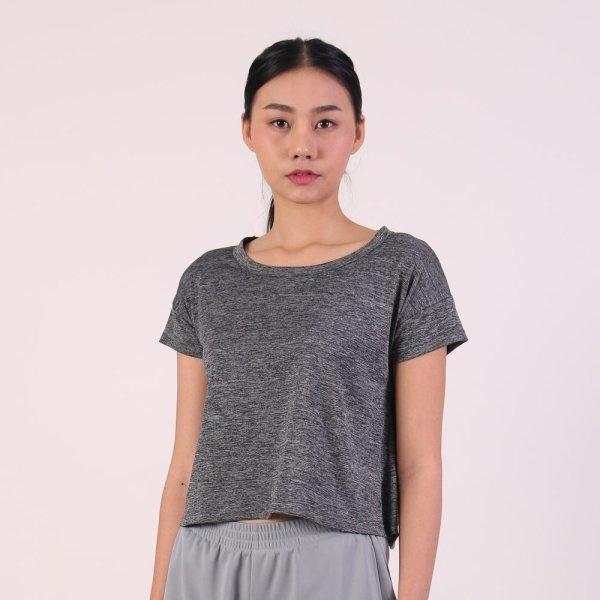 แกรนด์สปอร์ต เสื้อออกกำลังกายผู้หญิง (สีเทา) รหัสสินค้า : 028792