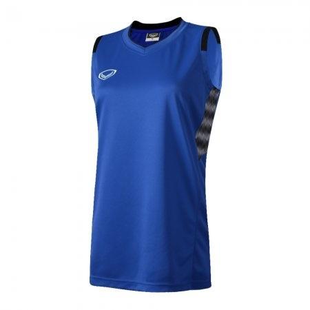เสื้อบาสเกตบอลแกรนด์สปอร์ตหญิง(สีน้ำเงิน)รหัส:013157
