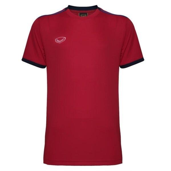 เสื้อกีฬาฟุตบอลตัดต่อ แกรนด์สปอร์ต  รหัสสินค้า : 011541 (สีแดง)