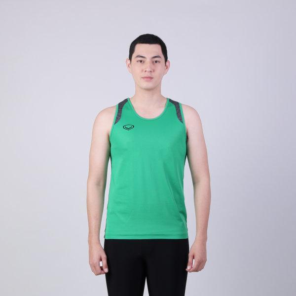 เสื้อกล้ามชายตัดต่อบ่า รหัสสินค้า : 017138 (สีเขียว)