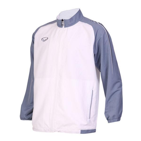 เสื้อแทร็คสูทแกรนด์สปอร์ต รหัสสินค้า : 020209 (สีขาว-เทา)