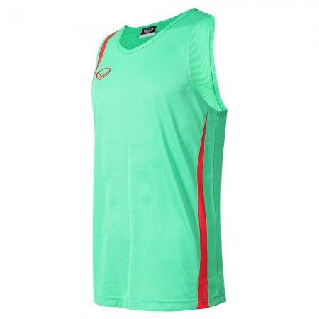 เสื้อวิ่งหญิงตัดต่อ (สีเขียว) รหัส :017130