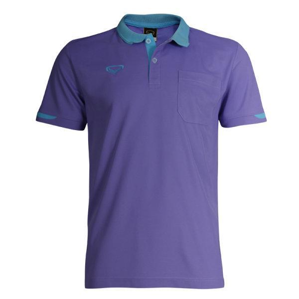เสื้อโปโลชายสีม่วงแกรนด์สปอร์ต รหัส :012553