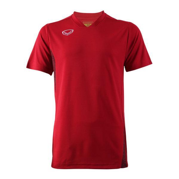 เสื้อกีฬาตัดต่อชายแกรนด์สปอร์ต (สีแดง)รหัส:014269