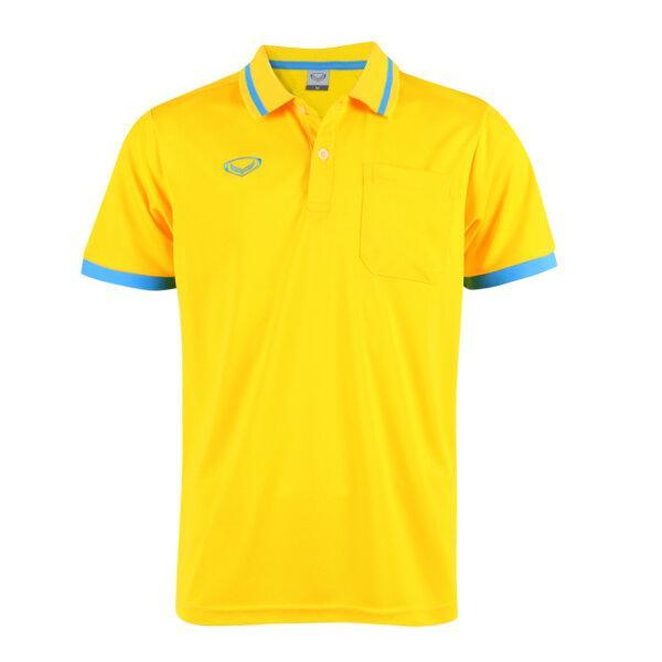 เสื้อโปโลชายแกรนด์สปอร์ต รหัสสินค้า : 012585 (สีเหลือง)