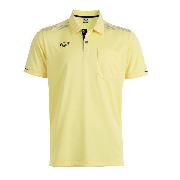 เสื้อโปโลชายแกรนด์สปอร์ต รหัสสินค้า : 012581 (สีเหลือง)