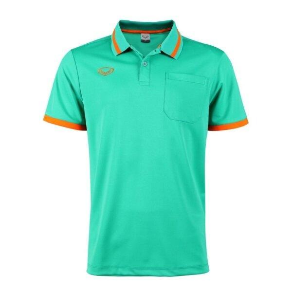 เสื้อโปโลชายแกรนด์สปอร์ต รหัสสินค้า : 012585 (สีเขียว)