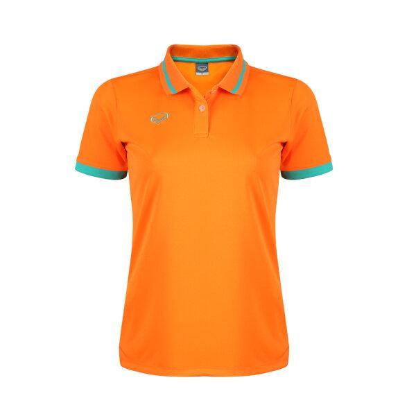 เสื้อโปโลหญิงแกรนด์สปอร์ต รหัสสินค้า : 012785 (สีส้ม)