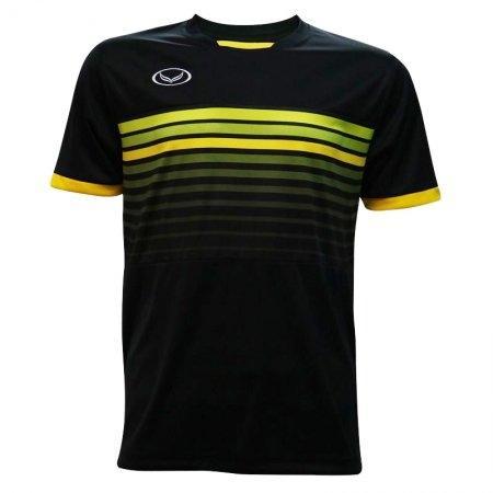เสื้อกีฬาฟุตบอลแกรนด์สปอร์ต (สีดำ) รหัส:011E01