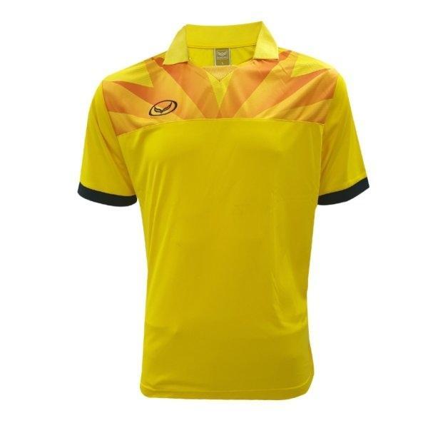 เสื้อกีฬาฟุตบอล แกรนด์สปอร์ต(สีเหลือง) รหัส : 011520