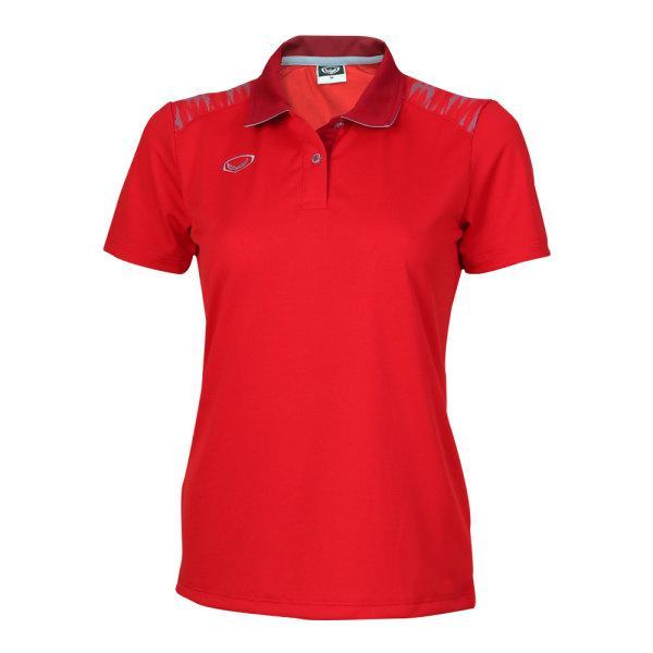 เสื้อโปโลหญิงแกรนด์สปอร์ต รหัส : 012776 (สีแดง)