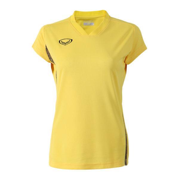 เสื้อกีฬาตัดต่อหญิง แกรนด์สปอร์ต(สีเหลือง) รหัส:014270