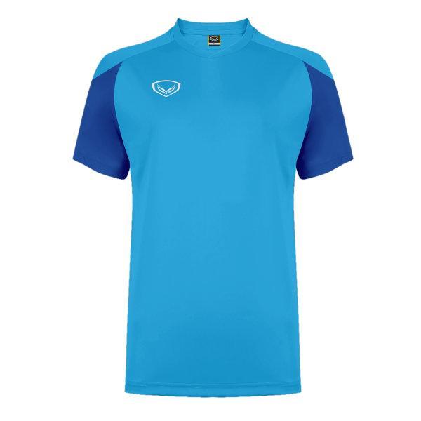 แกรนด์สปอร์ต เสื้อกีฬาฟุตบอล ตัดต่อ รหัส: 011481 (สีฟ้า)
