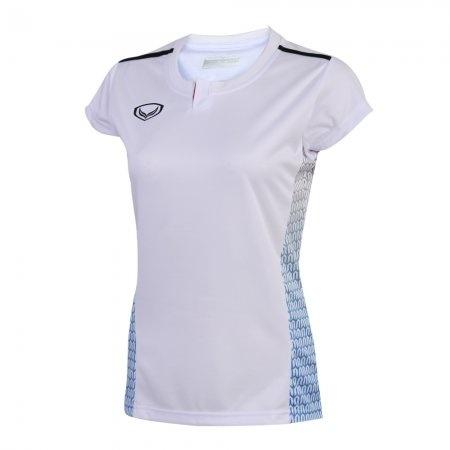 เสื้อกีฬาตัดต่อพิมพ์ลายหญิงแกรนด์สปอร์ต(สีขาว)รหัส:014257