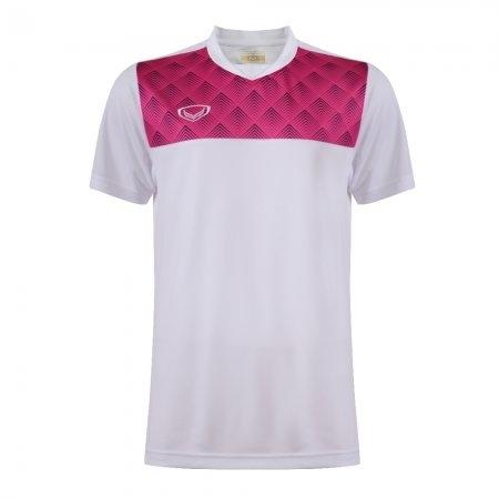 เสื้อกีฬาตัดต่อพิมพ์ลายชาย(สีขาว) รหัส :014254