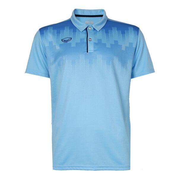 เสื้อโปโลพิมพ์หน้า แกรนด์สปอร์ต รหัส : 072047 (สีฟ้า)