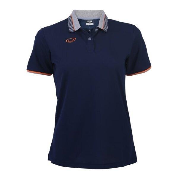 เสื้อโปโลหญิงสีกรม แกรนด์สปอร์ต รหัส :012768