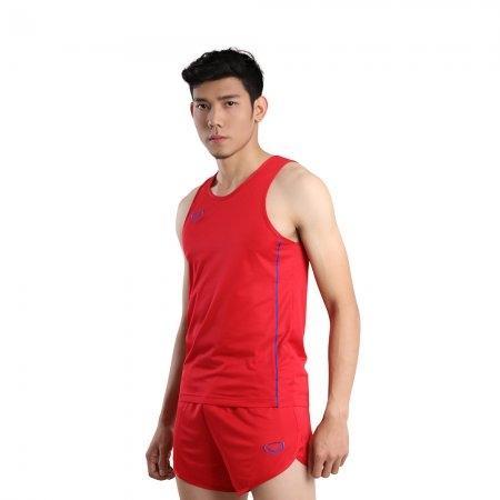 เสื้อวิ่งชายกุ้นด้านข้าง (Grand Sport RUNNING) รหัส: 017127 (สีแดง)