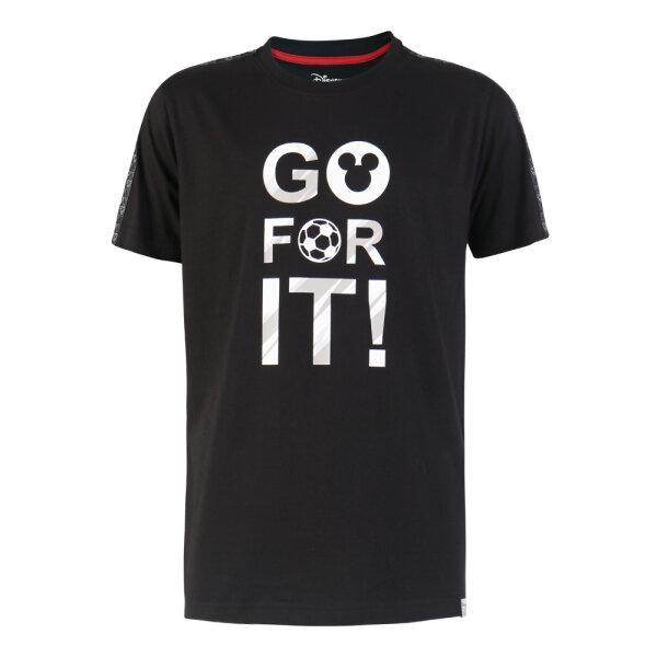 เสื้อยืดพิมพ์ลาย Mickey (Go For It Collection Disney )รหัส : 621029 (สีดำ)