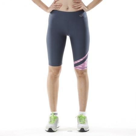กางเกงออกกำลังกาย แอโรบิค ขา 3 ส่วน (สีเทาชมพู) รหัส: 028471