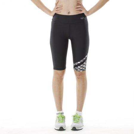 กางเกงออกกำลังกาย แอโรบิค ขา 3 ส่วน (สีดำขาว) รหัส: 028471