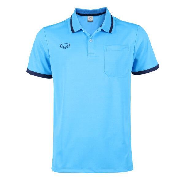 เสื้อโปโลชายแกรนด์สปอร์ต รหัสสินค้า : 012585 (สีฟ้า)