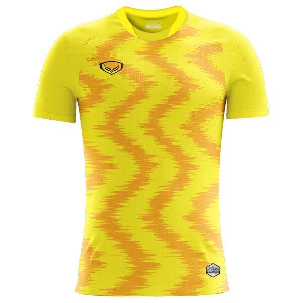 เสื้อกีฬาฟุตบอลพิมพ์ลาย แกรนด์สปอร์ต  รหัสสินค้า : 011543 (สีเหลือง)