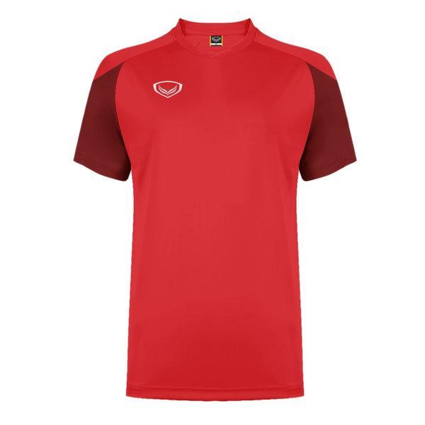 แกรนด์สปอร์ต เสื้อกีฬาฟุตบอล ตัดต่อ รหัส: 011481 (สีแดง)