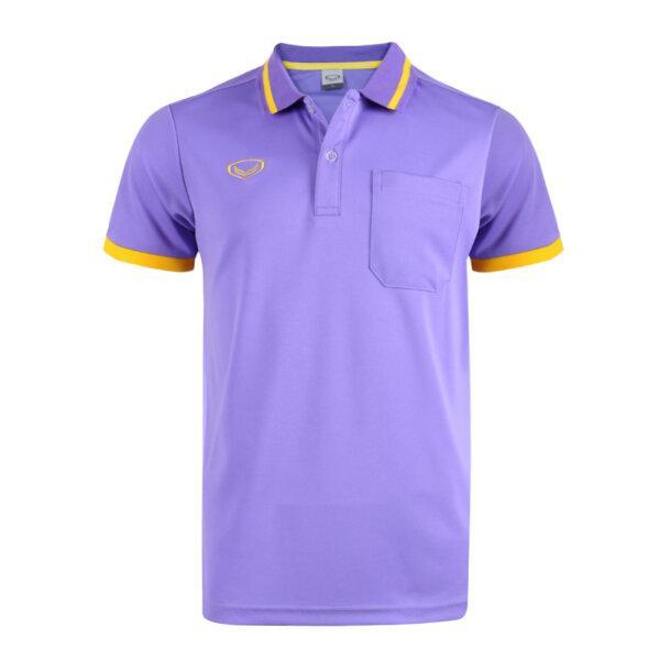เสื้อโปโลชายแกรนด์สปอร์ต รหัสสินค้า : 012585 (สีม่วง)