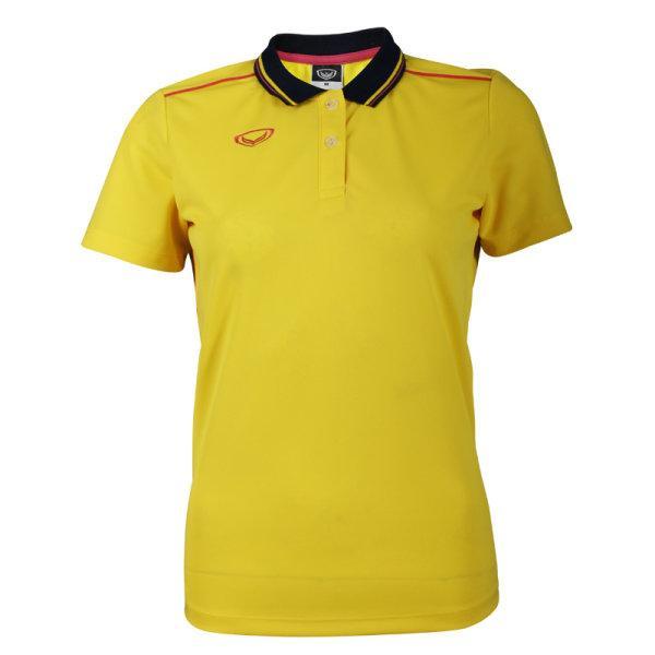 เสื้อโปโลหญิงสีเหลืองแกรนด์สปอร์ต รหัส :012754