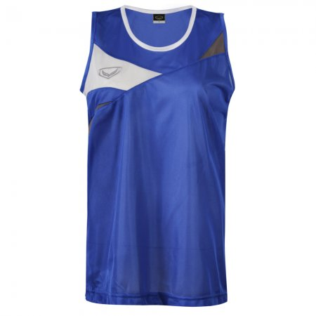 เสื้อวิ่งหญิงตัดต่อด้านหน้า(สีน้ำเงิน) รหัส :017110