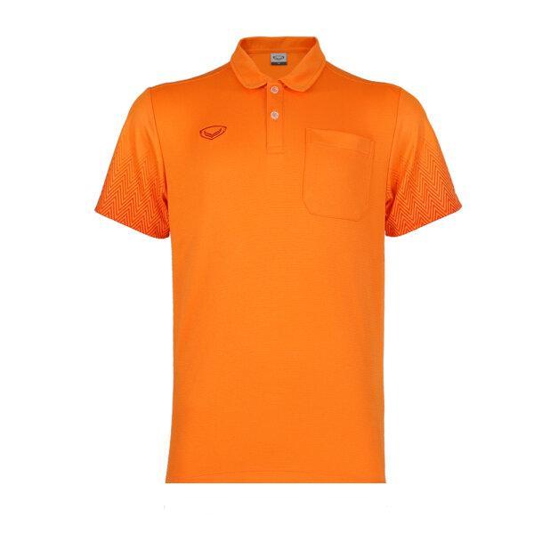 เสื้อโปโลชาย แกรนด์สปอร์ต รหัส : 012584 (สีส้ม)