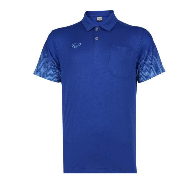 เสื้อโปโลชาย แกรนด์สปอร์ต รหัส : 012584 (สีน้ำเงิน)