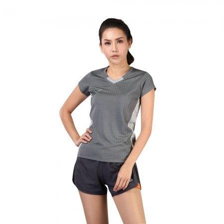 เสื้อแอโรบิกคอวี รหัสสินค้า:028376(สีเทา)