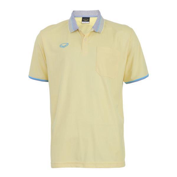 เสื้อโปโลชายสีเหลืองแกรนด์สปอร์ต รหัส :012568