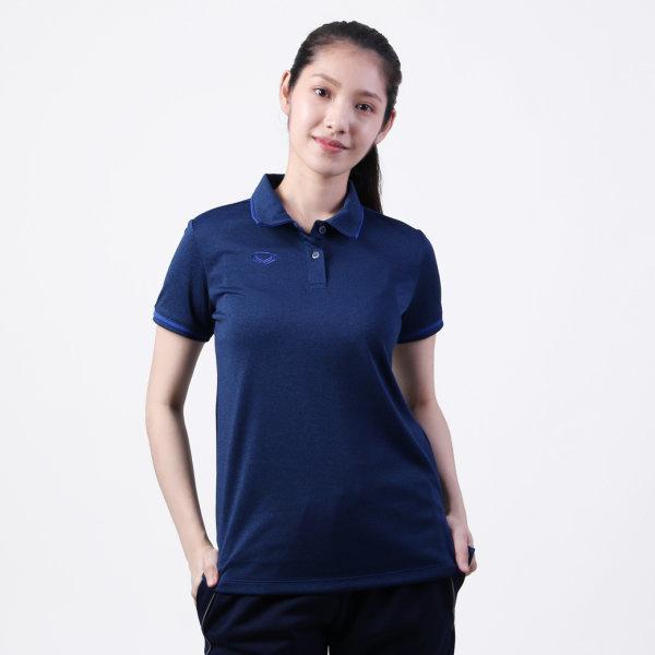 เสื้อโปโลหญิงแกรนด์สปอร์ต รหัส :012777 (สีน้ำเงิน)